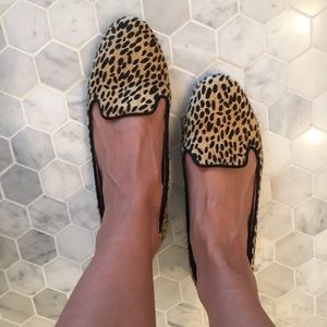 Zara Woman Cheetah Print Loafers